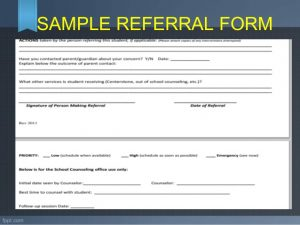 referral forms template referral and follow up guidance and counseling