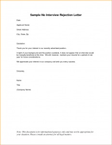rejection letter template sample rejection letter application how to write a rejection