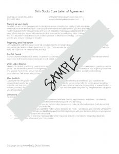 release form template contract sample page