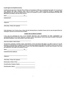 release from liability form trampoline waiver form arkansas l