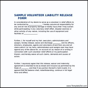 release of liability form liability release form download document