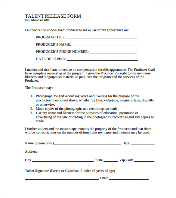 release of liability form pdf