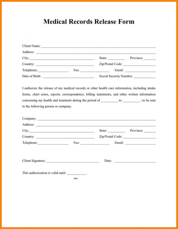 Printable Release Of Information Form Olala Propx Co