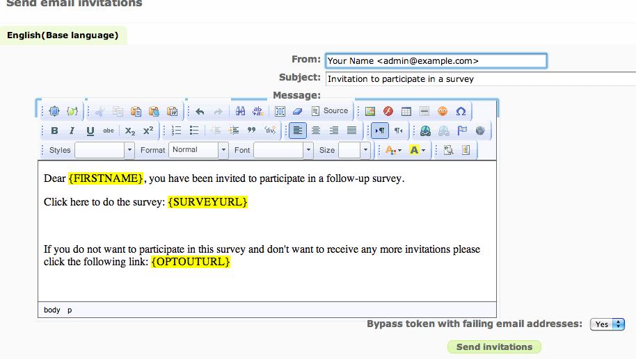 reminder email sample