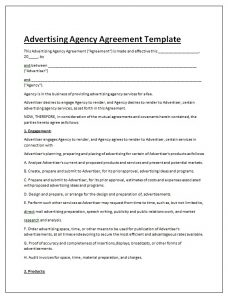 remodeling contract template advertising contract agreement template doc