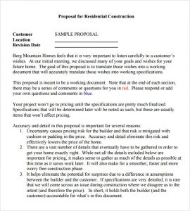 remodeling contract template contractor proposal sample