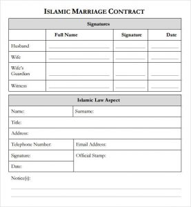 remodeling contract template marriage contract islam template