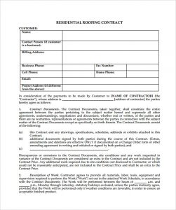 remodeling contract template roofing contract template free