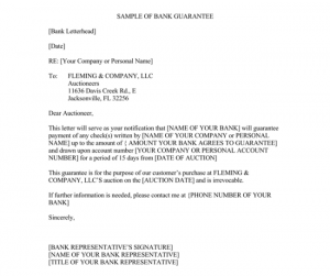 rent contract sample guarantee letter template x