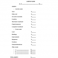 rent contract simple blank balance sheet example l