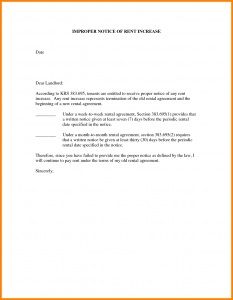 rent increase letter template notice of rent increase letter sample