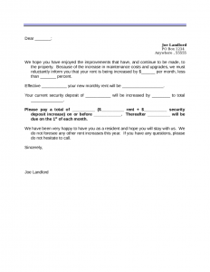 rent increase letter template rent increase letter template