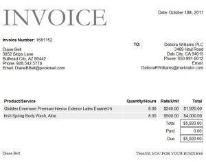 rent invoice template aafbaaabaeeacba invoice format bank deposit