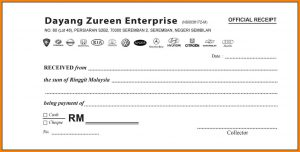 rent receipt format sample of official receipt