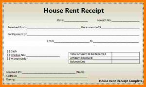 rent receipt pdf rent receipt samples house rental receipt format