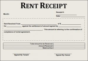 rent receipt sample rent receipt example