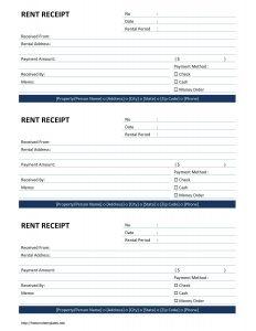 rent receipt template 152 rent receipt