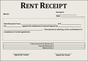 rent receipt template rent receipt example