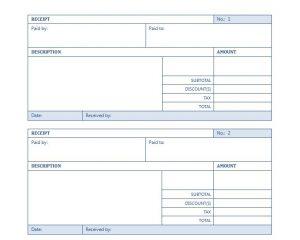 rent receipt template word rent receipt template word document