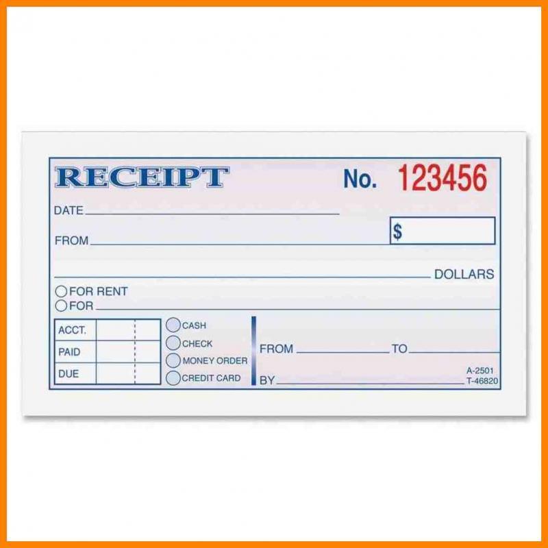 cash receipt template full size
