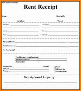 rent receipt template word rental receipt template uk