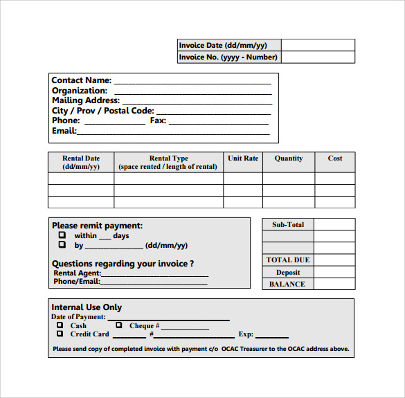 Rent Receipt Template Word Template Business - Rent invoice template word