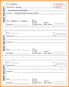 rent receipts forms blank receipts printable rent receipt