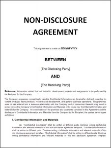 rent to own agreement template non disclosure agreement sample