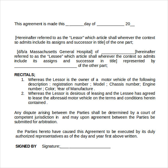 Exceptional Rental Agreement Doc