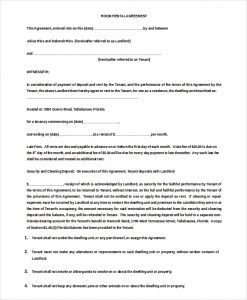 rental agreement doc month to month room rent agreement doc download