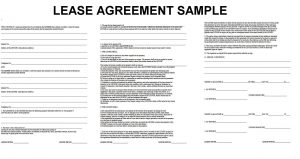 rental agreement format lease agreement template