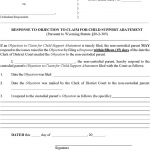 rental agreement letter wyoming response to objection to claim for child support abatement form