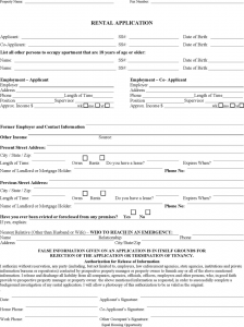 rental agreement month to month missouri rental application form