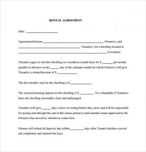 rental agreement pdf generic rental agreement pdf