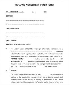 rental agreement pdf pdf format month to month tenancy agreement free download