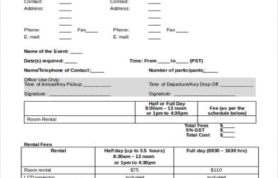 rental agreement room in private home room rental reservation agreement