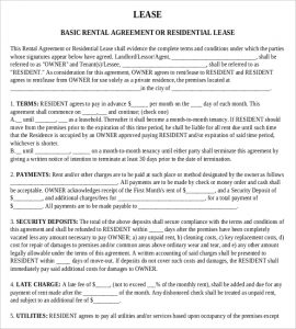 rental agreement template word basic rental agreement template free download