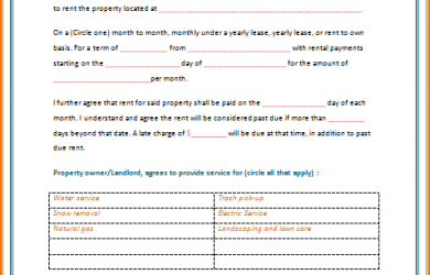rental agreement template word rental lease agreement template word rental agreement template