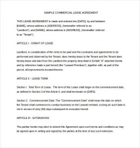 rental agreement template word sample commercial rental agreement template word file