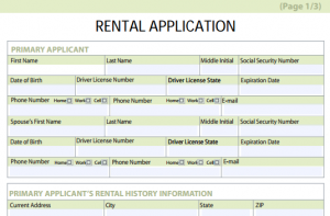 rental application form free aaeffed example form