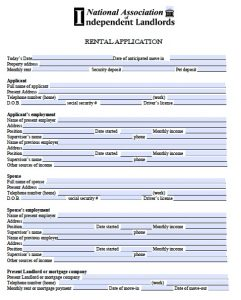 rental application form free free rental application form