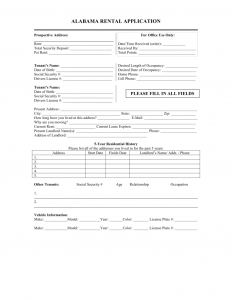 rental application form word alabama rental application x