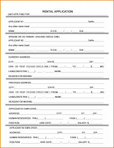 rental application form word rental application form word
