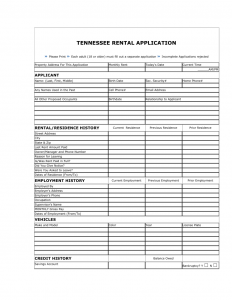 rental application form word tennessee rental application form x