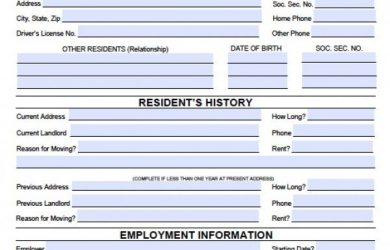 rental application form word wisconsin rental application x