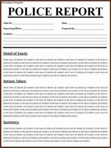 rental lease agreements police report template police report template