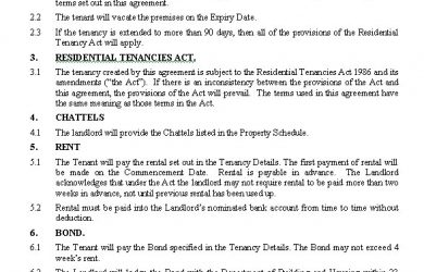 rental lease agreements residential tenancy agreement short term