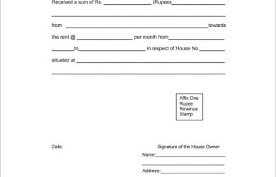 rental receipt format rent receipt format download