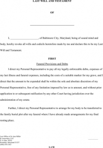 rental receipt pdf maryland last will and testament form