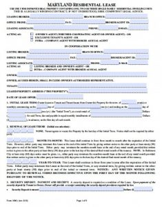 rental receipt pdf maryland realtor residential lease agreement x